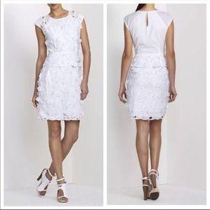 BCBGMaxAzria Dresses - NWT BCBGMaxazria Aveline White Lace Appliqué Dress